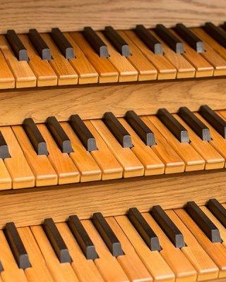 Wooden manual keyboa
